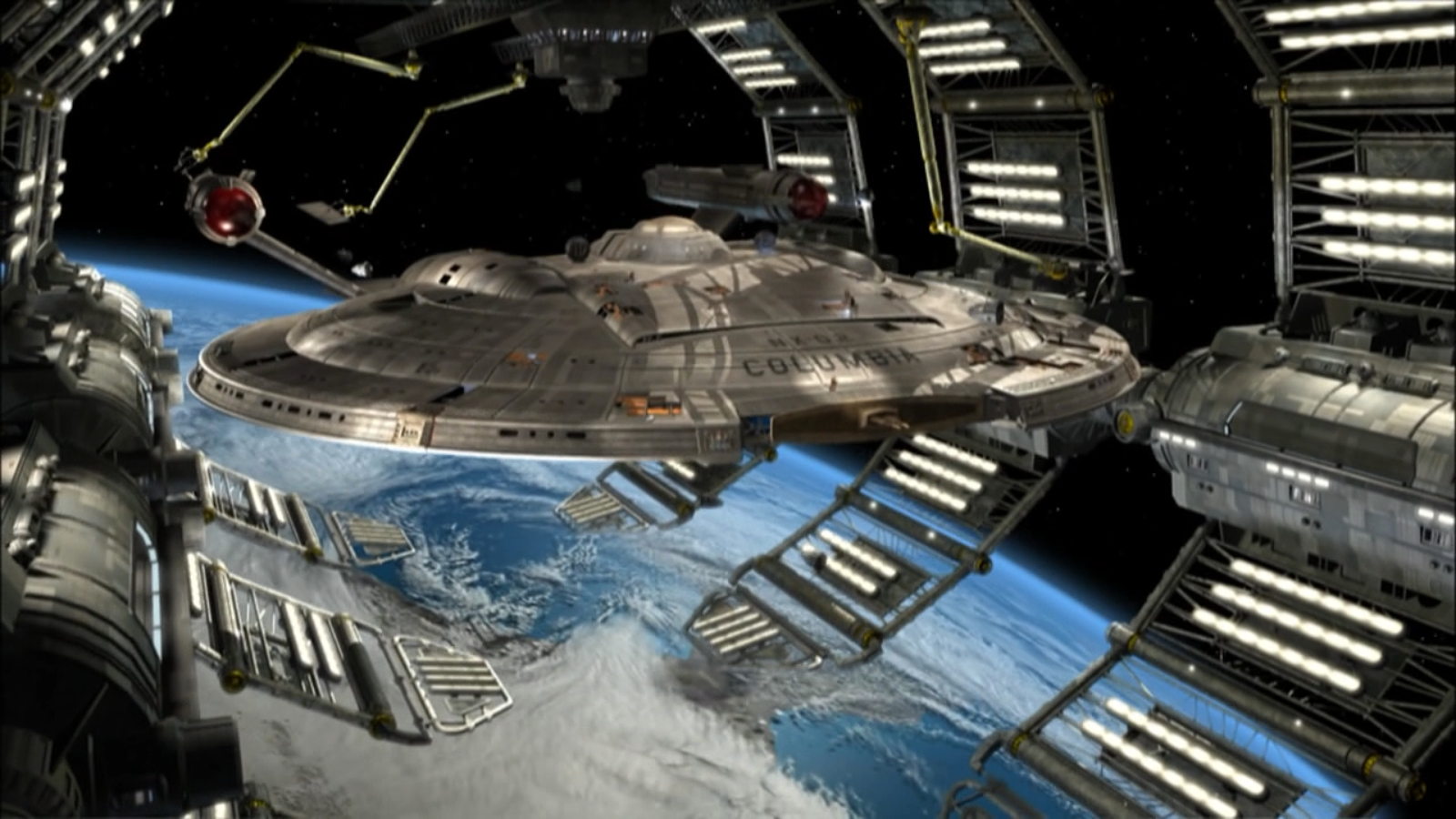 NX-02, Columbia, might've been an indicator of what a refitted Season 5 Enterprise would look like.