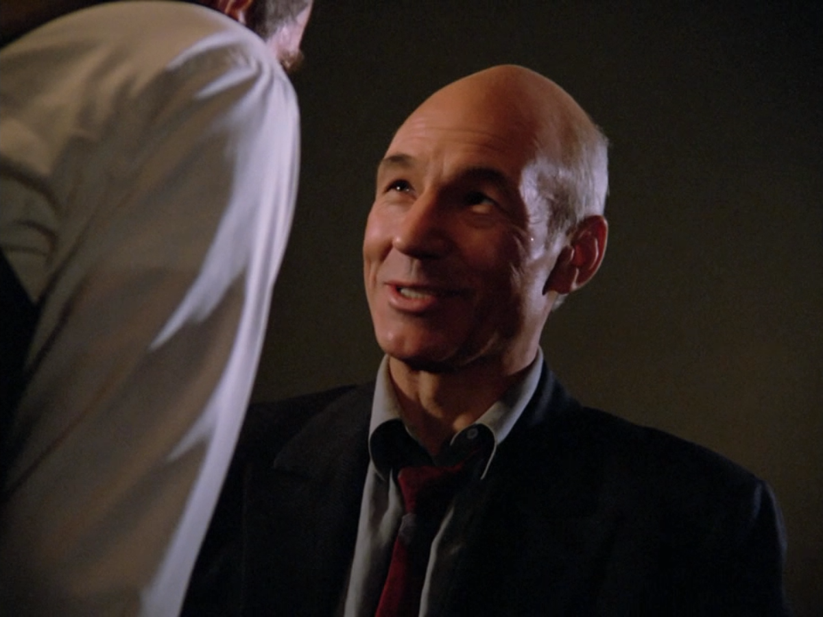 Picard enjoying his interrogation a little too much.