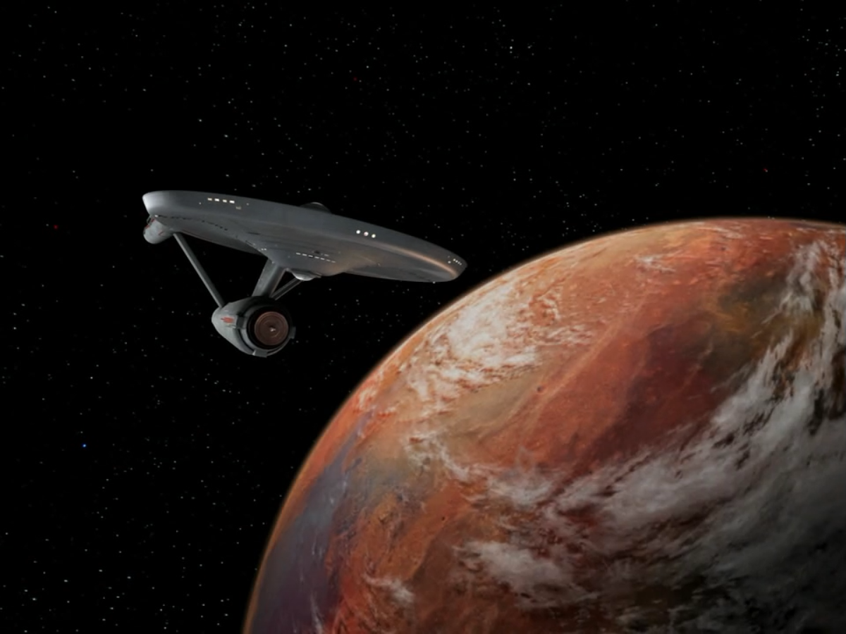 ...and the 23rd century Enterprise. Which looks more advanced?