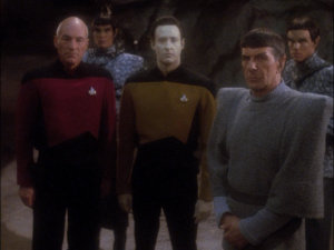 Data and Spock even discuss their similarities and differences when they meet.