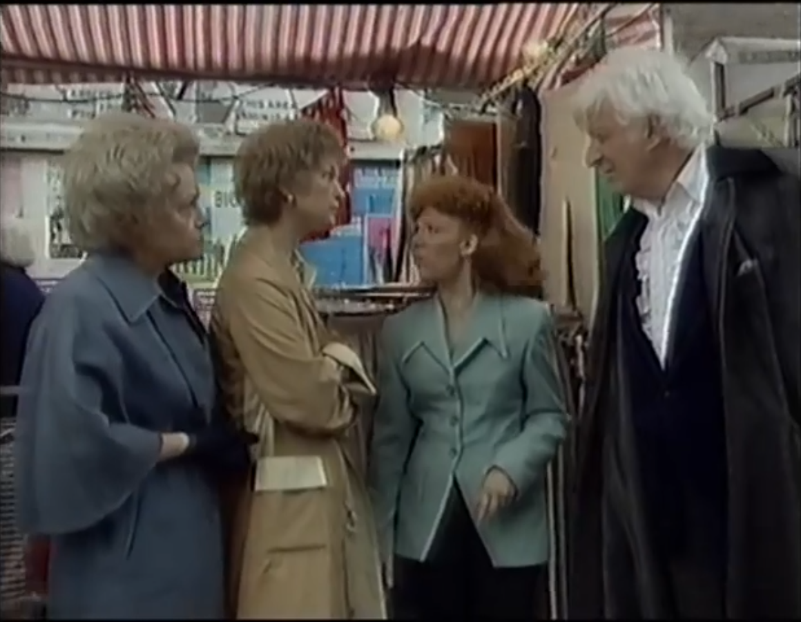 The Third Doctor in Albert Square. Damn shame this mess was his last appearance.