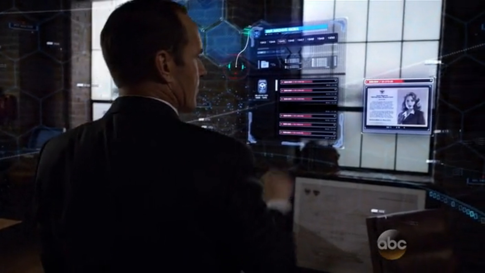 A small Peggy Carter cameo as Coulson looks up the file on the 084.