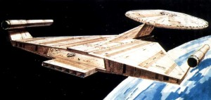 A proposed Enterprise redesign for an undeveloped movie, by Ralph McQuarrie of Star Wars fame.