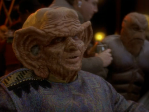 You might not recognize his face with the Ferengi makeup on, but his voice is unmistakeable.