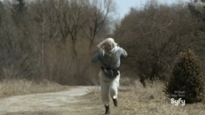Datak flees after he's been... disarmed. Oh come on, I had to.