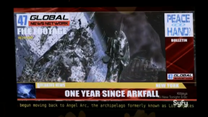 Bits of the arks remain in orbit for decades, meaning they can't even leave because of the debris.