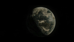 That's definitely a sickly-looking Earth alright...