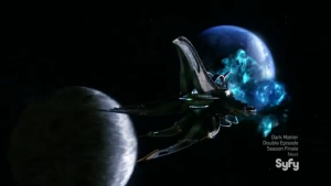 Also getting a cool starship is the epitome of character development, so there's that.