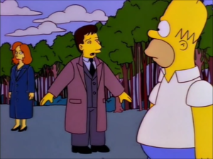 Simpsons X-Files Cameos