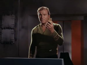 Captain Kirk Requesting a Beam Out